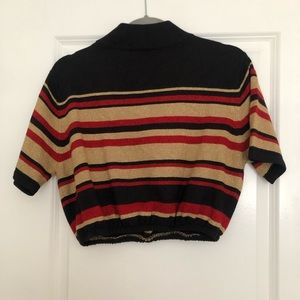 Tops - Gold, Red sparkle cropped knit size M